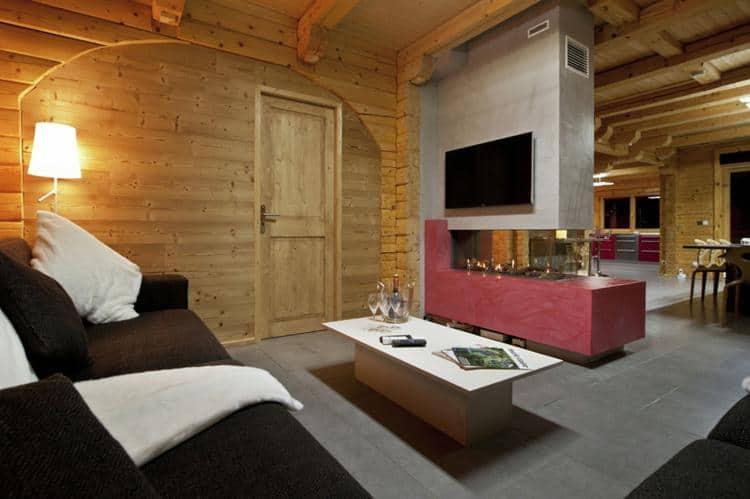 Chalet Chalet Mont Soleil - Frankrijk - Noord Alpen - 12 personen - woonkamer